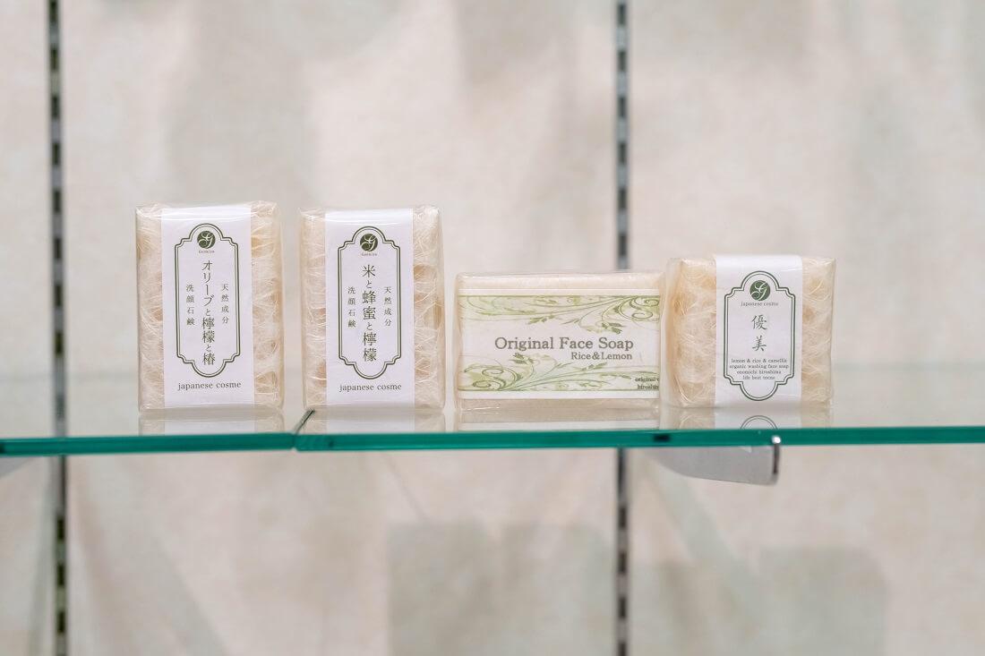 米&レモン&椿の洗顔化粧石鹸